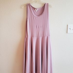 Lularoe Nicki Dress Lavender Medium